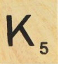 INDIVIDUAL WOOD SCRABBLE TILES! 1.25 CENTS PER TILE. LETTER K