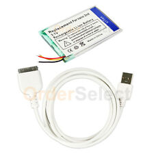 Battery+USB Sync Charger Cable for Apple iPod Nano 2nd Gen 2GB 4GB 8GB 100+SOLD