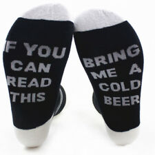 Cotton Women Men Socks If You can read this Bring Me A Beer A Wine A Coffee