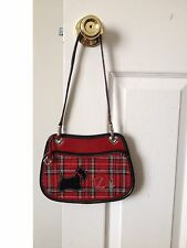 Brighton Handbag Red Tartan Plaid Scottish Terrier Scottie Dog Shoulder Bag NWOT