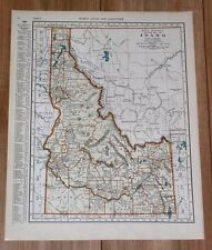 1937 MAP OF IDAHO BOISE / GEORGIA ATLANTA
