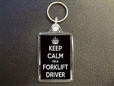 KEEP CALM I'M A FORKLIFT DRIVER KEYRING GIFT BAG TAG BIRTHDAY GIFT