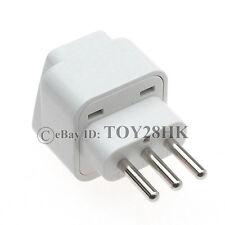 Italian 3-pin Type L Electrical Adapter Travel Plug Convert Universal Power Plug
