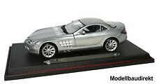 MERCEDES-Benz SLR McLaren in argento anno 2003 1:18 Maisto 36653 NUOVO & OVP