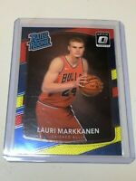 F35706 2017-18 DONRUSS OPTIC LAURI MARKKANEN RC #159 *RED/YELLOW RATED ROOKIE