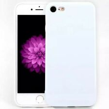 For iPhone 7 5S 6S Plus 6 Back Cover Slim Soft Gel TPU Silicon Glossy Phone Case