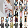 Ladys Boho Floral Kimono Cardigan Summer Holiday Top Blouse Baggy Beach Cover Up
