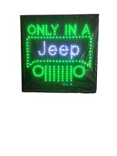 Only in A Jeep Neon Led Sign, Jeep Display Jeep Sign Jeep Led Jeep Wrangler