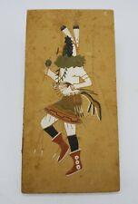 Navajo Sand Painting Yei Bei Chai Dancer Tile Unframed 12x6 by Carlene Duncan