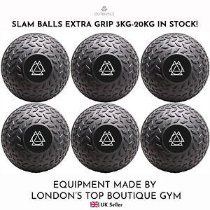 SLAM BALLS 3kg-20kg NO BOUNCE EXTRA GRIP Gym Home Fitness Weight Training