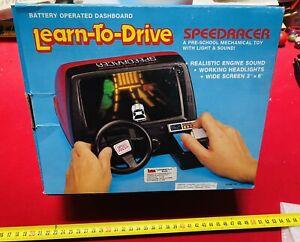 SIMULATORE LEARN TO DRIVE  BATTERY OPERATED Made In HONG KONG VINTAGE PERFECT!!!