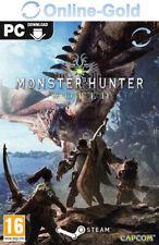 Monster Hunter World Clé - Jeu PC code de téléchargement Action [EU/FR]