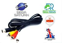 SEGA Saturn AV Cable TV Lead Composite Video Audio RCA 1.8M - UK Fast Free Post