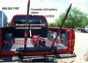 ePickup Truck 12 Volt Hydraulic Hay Bale Spear Straight Neck