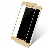 Huawei P8 Lite 2017 3D Panzer Schutz Glas Folie Schutzfolie Echtglas Case Gold