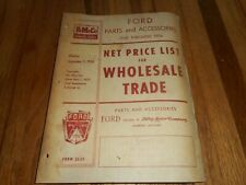 Vintage FORD FOMOCO 1928-54 PARTS NET PRICE LIST Manual Book Catalog