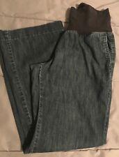 Ann Taylor Loft Wide Boot Leg Maternity Size 2 Jeans Denim Medium Dark
