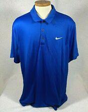 Nike Men's Performance Polo Shirt Size Xxl 2Xl Blue Short Sleeve Top