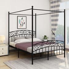 Canopy Bed Frame Queen Mosquito Net Bed Luxury Bedroom Furniture