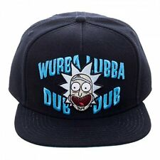 Rick & Morty Wubba Lubba Dub Logo Adult Swim Urban Snapback Cap Hat SB4G9IRIC