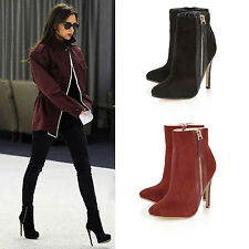 Faux Suede Upper Material Standard (B) Boots for Women
