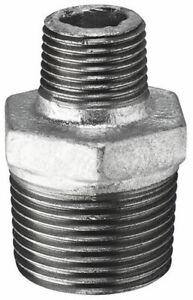 """Galvanised Steel Reducing Nipples  :  1/4"""" to 4"""" BSP"""