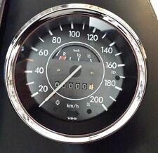 VW Käfer 1303 Tacho bis 200 km/h und Chromring neues Glas neuer Ring