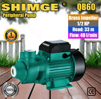 Shimge Peripheral Pump QB60 For Clean Water Garden Farm Rain Tank Irrigation