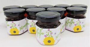2 Ounce Alfalfa Honey - 10 Small Glass Jars