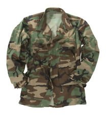 US WOODLAND BDU FIELD JACKET ARMY GI NYCO RIPSTOP CAMOUFLAGE JACKET VARIOUS SIZE