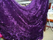 1 M di qualità Viola Scuro ICE Crush tessuto in velluto... larghezza 58 in (ca. 147.32 cm).