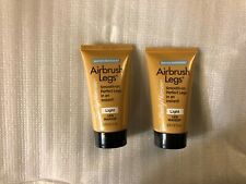 2pk Sally Hansen Airbursh Legs Trial Travel Size Tube Water Resistant 01 Light