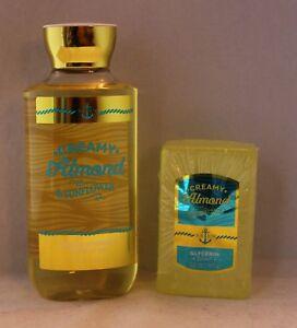 Bath & Body Works Creamy Almond & Sunflower Shower Gel & Glycerin Soap Set
