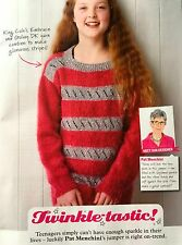 KNITTING PATTERN Girls Striped Lace Jumper Long Sleeved Childrens Teen King Cole