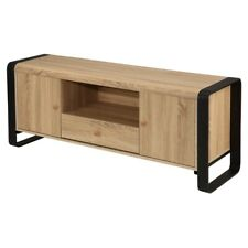 Homegear Oak Living Room Furniture TV Bench Stand Media Entertainment Center
