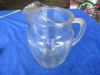 Heavy glass serving pitcher