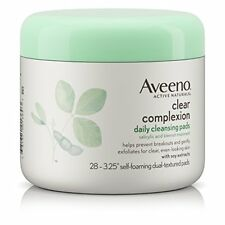 Aveeno Clear Complexion Daily Cleansing Pads, 28 Ct (2 Pack)