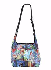 Disney Princess Belle Beauty And The Beast Stained Glass Hobo Book Tote Bag New