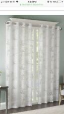 """Madison Park Leilani Sheer Grommet-Top Curtain Panel 50""""WX63""""L White NEW"""