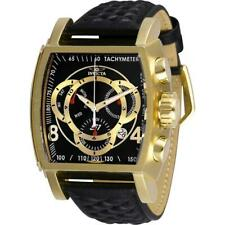 Invicta S1 Rally 27932 Men's Black Torneau Analog Chronograph Date Leather Watch