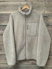 Uniqlo Windproof Pile Lined Fleece Jacket Beige Large Not Engineered Garments