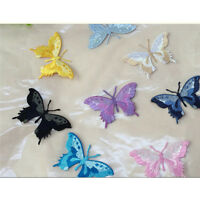 1pcs Embroidery Butterfly Sew Iron On Patch Badge Embroidered Fabric Applique EB
