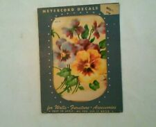 """MEYERCORD DECAL TRANSFER DECORATION  - FLOWER  """"PANSY""""   VINTAGE"""