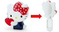 Sanrio Hello Kitty Folding Hair Comb / Hair Brush W/ Small Mirror Free Reg Ship
