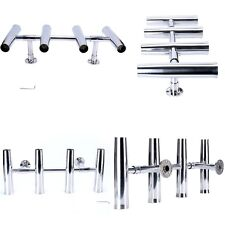 4 Tube Adjustable Stainless Rocket Launcher Rod Holders , Can be Rotated 360 Deg