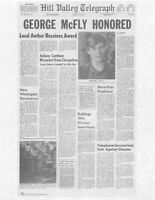 1985 Back To The Future Hill Valley Telegraph > George McFly Honored > Replica