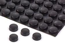 4 Gummifüße schwarz  ca 7mm*ca 18 mm rund selbstklebend 8011