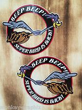 "2er culto rythm sticker ""Roadrunner"" pegatinas Super Bird Plymouth muscle car"