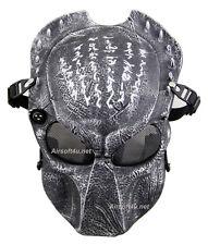 Metal Mesh Protect Black Silver Alien Vs Predator AVP Full Face Airsoft Mask