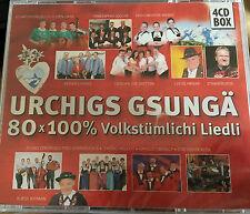4 CD BOX urchigs gsungä 80 x 100% volkstümlichi liedli 80 popolo canzoni folk musica N